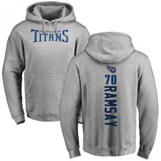 Men's Mike Ramsay Tennessee Titans Pro Line Ash Backer Pullover Hoodie